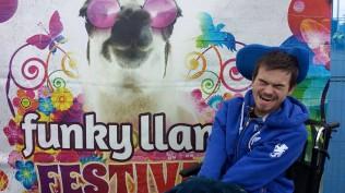 Made an artistic appearance at Funky Llama