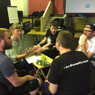 My team along with Diverse City are touring the country to teach inclusivity practices to youth theatre leaders :) Here's an action shot of us in Ipswich today, educating those who educate our young minds of the future... We're making waves of change :)